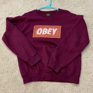 Obey crew neck
